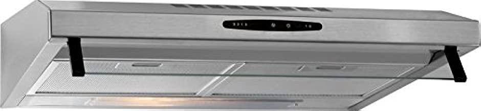 Bomann DU623 IX - Campana extractora 60 cm, recirculación de aire o por conducto, 3 niveles potencia, filtros extraibles de aluminio lavables, acero inoxidable