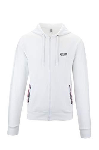 Moschino Underwear 1T1705 Herren-Sweatshirt Men's Hoodies, MOSCHINO Underwear 1T1705, Weiß, MOSCHINO Underwear 1T1705 Medium