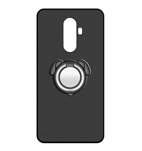 Sunrive Für WileyFox Swift 2/2 Plus Hülle Silikon, 360°drehbarer Ständer Ring Fingerhalter Fingerhalterung Handyhülle matt Schutzhülle Etui Hülle (Farbe schwarz)+Gratis Universal Eingabestift MEHRWEG
