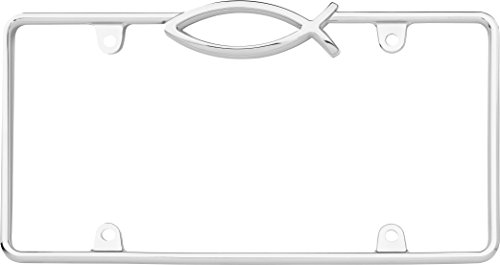 Cruiser Accessories 29003 Ichthus License Plate Frame, Chrome