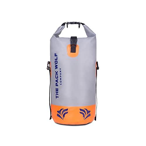 Mochila Impermeable The Pack Wolf Company Dry Bag Premium 20L con Correas ajustables para los hombros Kayak Rafting Navegación Deportes Acuáticos Flotación