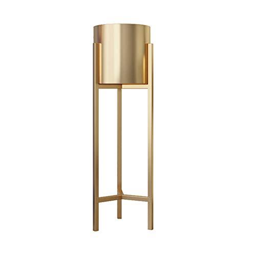 Dbtxwd Blumentopfständer Dekorativer hoher stehender blühender saftiger Metallpflanzenhalter für Hausgartenpatio,Gold,70×22cm