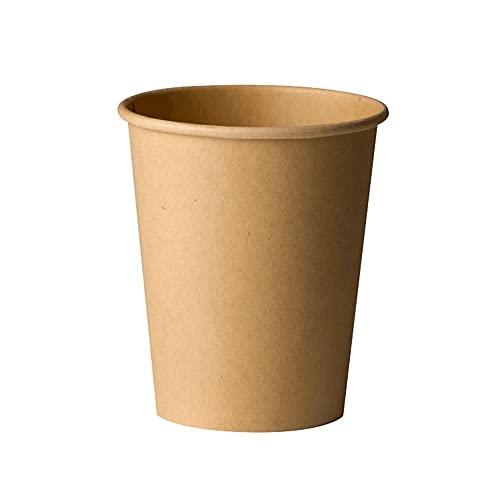 100 Vasos Desechables de Café para Llevar - Vasos de Cartón Kraft de 120ml Biodegradables Tazas de Te para Bebidad Frias y...