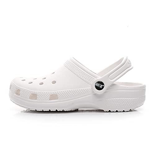 SGCDKSP Zapatillas Baotou, Sandalias De Playa, Zapatillas De Hombres Y Mujeres, Zapatos Ripped,Blanco,39 Yards