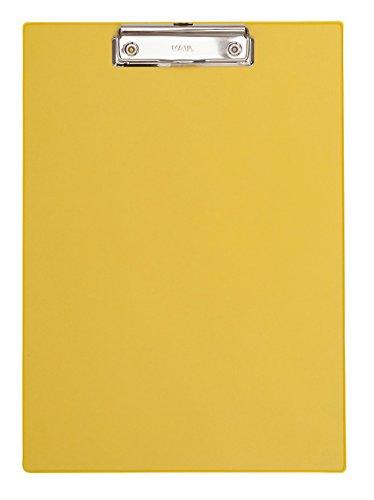 Maul 2335213 Schreibplatte Folienüberzug, Klemmbrett DIN A4 hoch, Gelb, 1 Stück