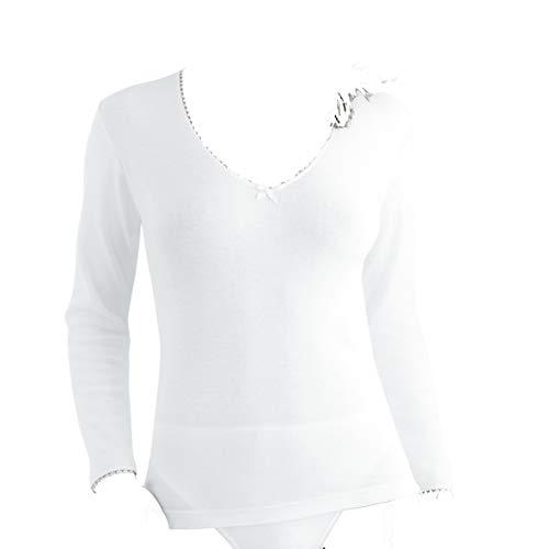 PLAYTEX & Princesa P01BT - Camiseta termica Mujer (Blanco, L)