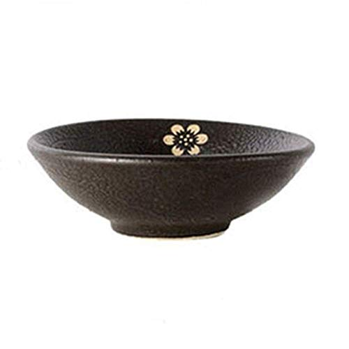 HAILI Tableware, Keramik-Schale Schale Rice Bowl Antique Steingut Black Wine Bowl Heim Jahrgang Fayence Props Buckle Fleisch Dämpfende Schüssel Kreative japanische Art und Wind Keramik Rice Bowl