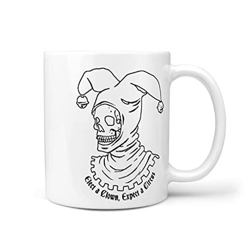OwlOwlfan Elect A Clown, Expect A Circus Taza de cerámica personalizada Taza de café con mango para cafetería bar para familiares y amigos, color blanco 11 oz