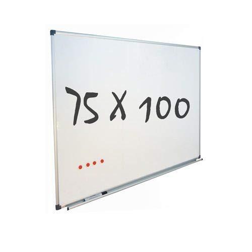 Vivol Eco Magnetic Whiteboard 75x100   Aluminium Rahmen   Magnettafel Whiteboardwand Magnetwand   Stiftablage   14 Größen   Magnetisch und Beschreibbar