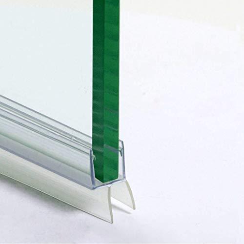 110cm - Guarnizione box doccia sottoporta di ricambio, orizzontale, trasparente a Gocciolatoio doppia aletta per vetro 10mm-GGV10
