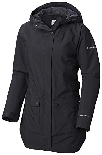 Columbia Here And There Trenchjacke für Damen, Damen, Regenmantel, Here And There™ Trench Jacket, schwarz, Large