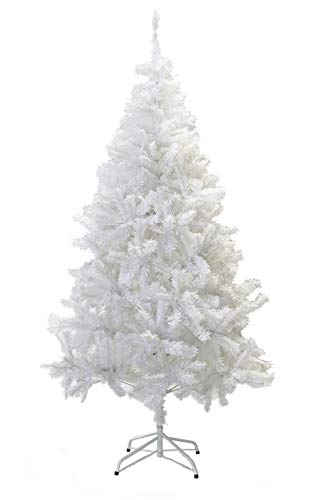 Perfect Holiday Christmas Tree, 8-Feet, PVC Crystal White