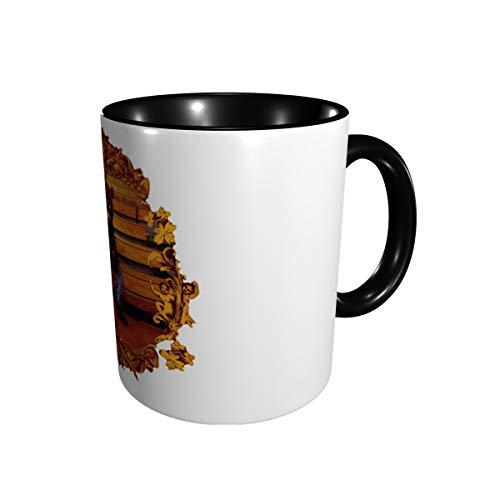 Large Coffee Mug 14 Ounces, Kanye West College Dropout Bear Porcelain Mug Large-sized Ceramic Restaurant Drinking Cups for Coffee, Tea, Juice, Cocoa Black