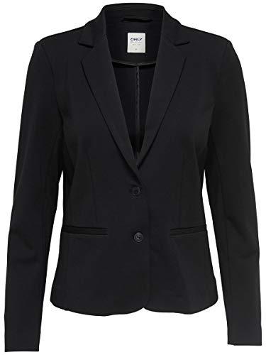 ONLY Damen Onlpoptrash Blazer Noos Anzugjacke, Black, XXL EU