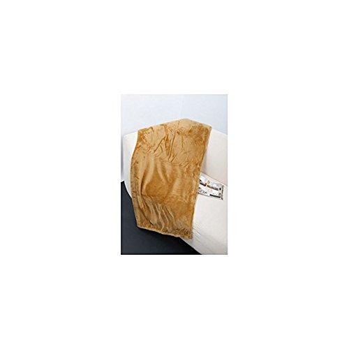 Plaid microfibre grand luxe uni 150x200 cm jaune ocre