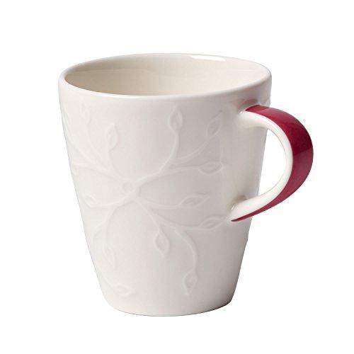 Villeroy & Boch Caffè Club Floral Touch of Rose Mokka-/Espressotasse, 100 ml, Premium Porzellan, Pink