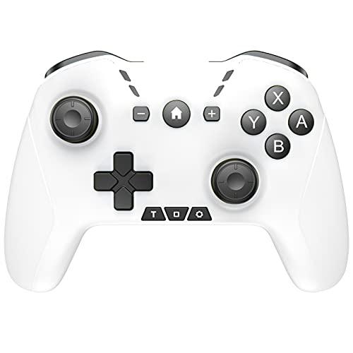 GAOYUAN Controlador Inalámbrico Pro Bluetooth Gamepad para Consola Switch Pro Mando a Distancia con Joystick Gamepad Vibración Dual Somatosensory de Seis Ejes Ergonómico Antideslizante