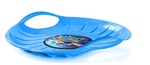 vom Pullach Hof Rutschteller Speed Schneeteller Tellerrutscher Rutschbob Teller Rutscher Schnee Schlitten Bob UFO große Gleitfläche (Blau)