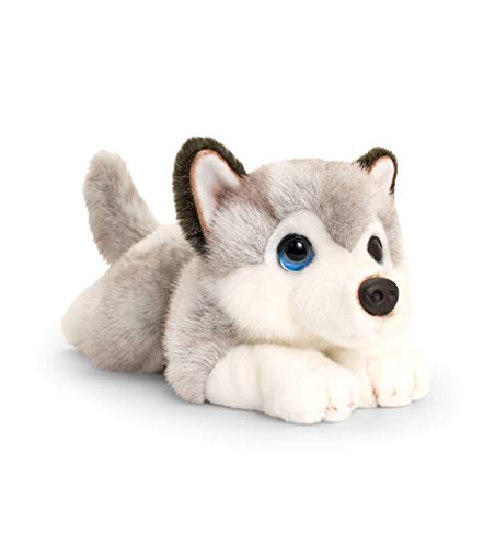 Keel Toys Cenefa para Cachorro (25 cm), Color Gris, Blanco, Talla única (SD2520)