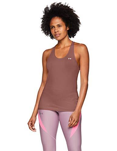 Under Armour Heatgear Armour Racer Tank Camiseta Transpirable para Mujer, cómoda Ropa Deportiva de Mujer de Corte Ajustado, Mujer, Rosa, LG