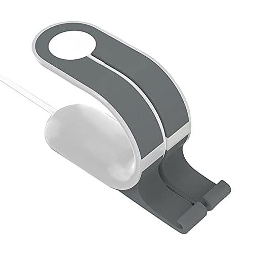 Easyeeasy Soporte de Carga portátil 2 en 1 Soporte de Carga para Reloj Estación de Acoplamiento Soporte para teléfono Soporte de Gel de sílice para Apple Watch para iPhone