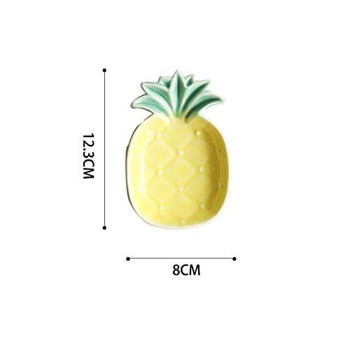 Mrytiuoperg Ananasschale, gelb, für Zuhause, Gewürze, Soja, Soße, Essig, Ketchup, Obst, Geschirr Ananas