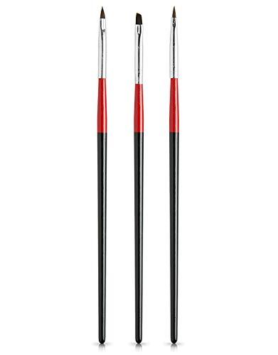 PROFICO Pinselchensatz zum Gel und zur Nägelverzierung | Komfort und Vielfältigkeit beim Nagelstyling | 3 Stück | TB-49