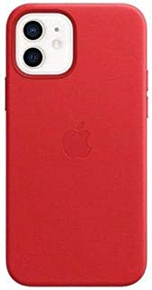 iPhone 12 | 12 Pro Leather Case with MagSafe - (PRODUCT) RED