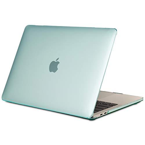 TECOOL Custodia MacBook PRO 13 Pollici 2016-2020 (Modello: A2338 M1/ A2289/ A2251/ A2159/ A1706/ A1708/ A1989), Plastica Cover Rigida Copertina Case per MacBook PRO 13 Touch Bar - Cristallo Verde