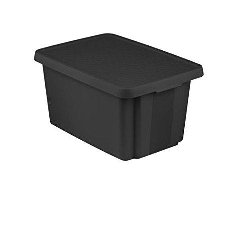 CURVER bewaardoos met deksel box opbergdoos opbergdoos 45 l zwart