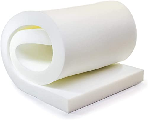 """AK TRADING CO. Professional 2"""" Thick, 18"""" Wide X 72"""" Long Regular Density Upholstery Foam, White"""