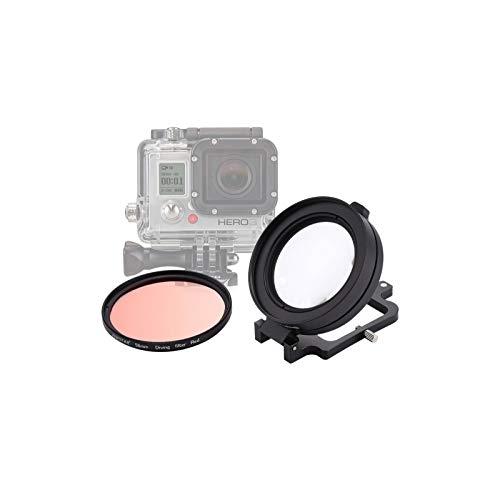 58mm objectif 16X Macro filtre de lentille de plongée Rouge Avec Cache-objectif adaptateur de Bague de filtre de lentille