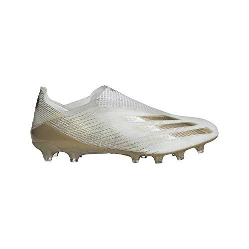 adidas Herren X GHOSTED+ AG Fussballschuh, FTWR White Met Gold Melange Core Black, 42 2/3 EU