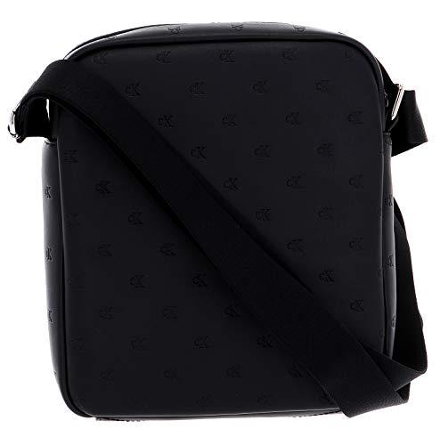 Calvin Klein Jeans Herren Umhängetasche Monogram Emboss Flatpack schwarz One Size