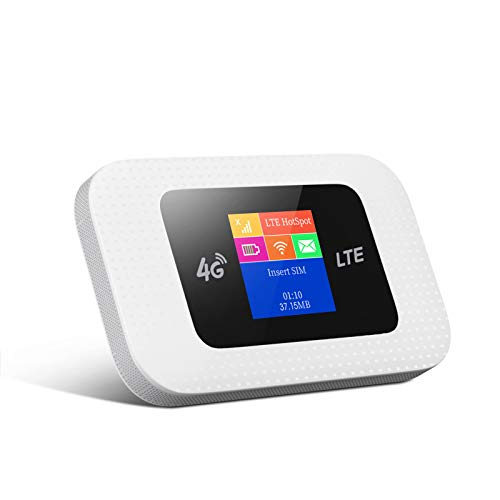 WISE TIGER 4G LTE MiFi, Portable Travel Wi-Fi with SD Card Slot 4G Mobile WiFi Hotspot Unlocked to All Networks, 6 Hours Long Lasting Battery, Colorful LCD Display
