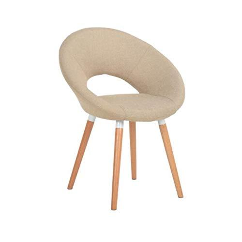 NAN liang Chaise de cuisine Chaise de style moderne avec siège à la maison, chaise de salle à manger avec accoudoirs et siège en bois massif, 11 couleurs disponibles (Couleur : Champagne)