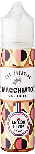 LE COQ QUI VAPE E-liquide pour cigarette électronique, Macchiato caramel Sans nicotine ni tabac