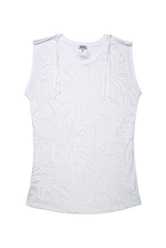 SOCCX Damen Ärmelloses Shirt mit Ausbrenner-Muster