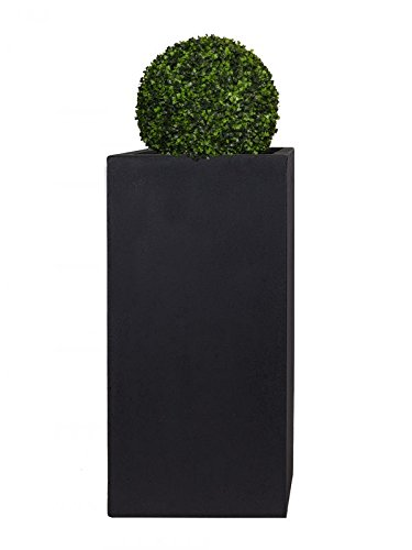 Pflanzwerk® Pflanzkübel Fiberglas XXL Tower Anthrazit 100x50x50cm *Frostbeständiger Blumenkübel* *UV-Schutz* *Qualitätsware*