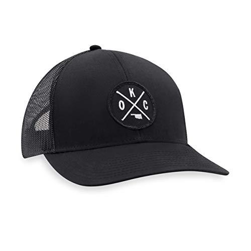 OKC Hat – Oklahoma City Trucker Hat Baseball Cap Snapback Golf Hat (Black)
