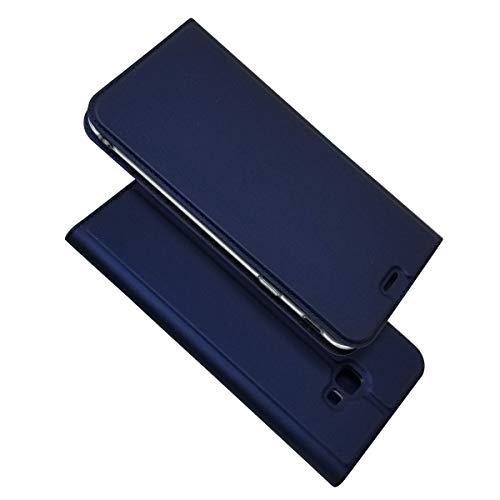Zouzt Funda Compatible con Samsung Galaxy J4 Plus; Estuche de Cuero de PU Ultra Delgado con Cierre magnético/función de Soporte/Ranura para portatarjetas para Samsung Galaxy J4 Plus,Azul