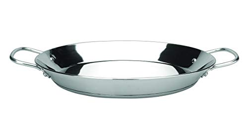 IBILI Paella pan Premier 28 cm of Stainless Steel, 28cm, Silver