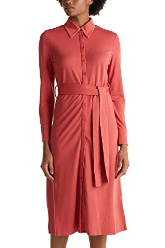 ESPRIT Collection Damen 010EO1E301 Kleid, Orange (Terracotta 805), Medium (Herstellergröße: M)