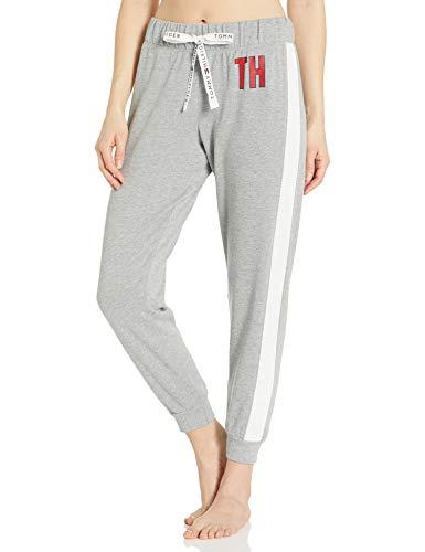 Tommy Hilfiger Women's Logo Lounge Pj Pajama Bottom, Heather Grey, M