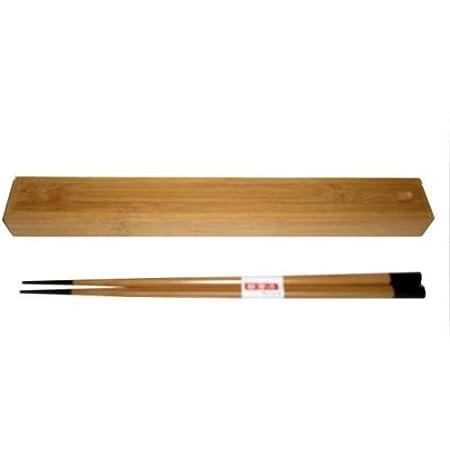 JapanBargain, Japanese Style Portable Chopsticks Travel Bamboo Chopsticks with Case Holder Black Tip