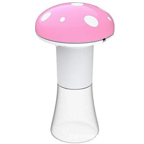 JSMY Dispensador de jabón en Espuma de 350 ml 2 en 1 dispensador de jabón automático sin Contacto Soporte para Cepillo de Dientes montado en la Pared para baño Cocina-Rosa