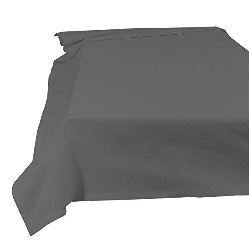 SHC Textilien Betttuch Bettlaken Haustuch Tischdecke 100% Baumwolle 150 x 250 cm anthrazit/grau/dunkelgrau