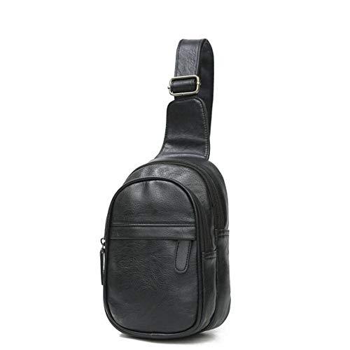 YGMDSL Brusttasche Sling Rucksack Schultertasche, Crossbody Umhängetasche Sporttasche Männer,Black
