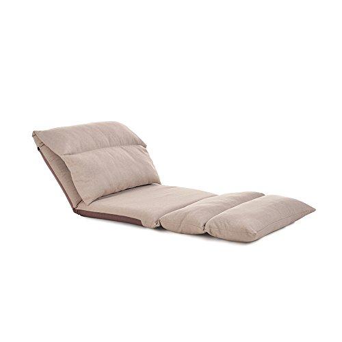 Chair Zhaizhen Chaise longue à bascule pour balcon, canapé paresseux pliable et lavable en tissu pour jardin extérieur (couleur : kaki)