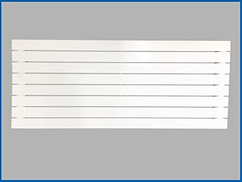 Paneel Heizkörper Badheizkörper ARYA Horizontal Singel (Breite: 1200 mm. Höhe: 604 mm, Weiß)